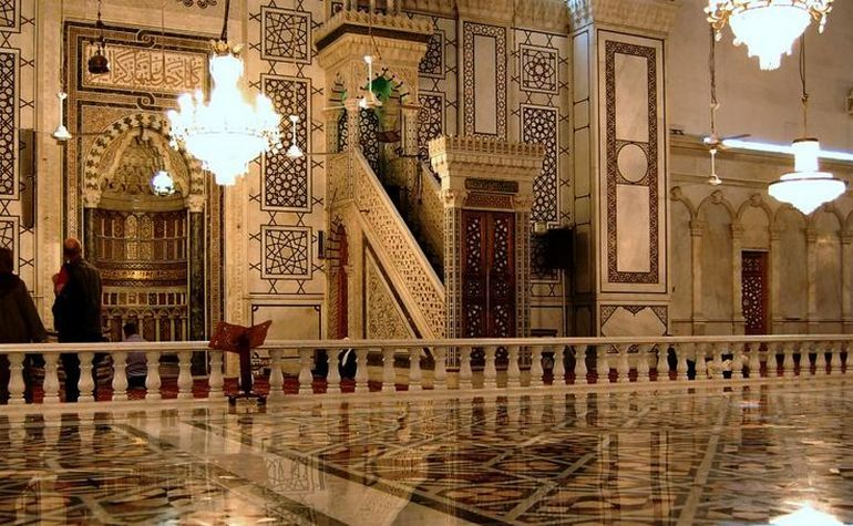Ummayad mosque mimbar and mihrab