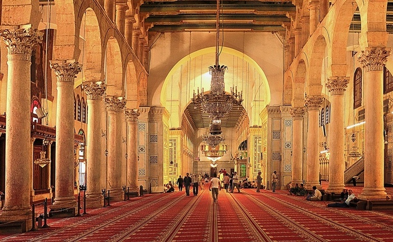Prayer hall of the Umayyad Mosque