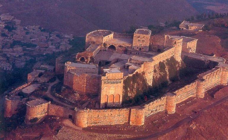 Aerial view of Krak des Chevalier castle