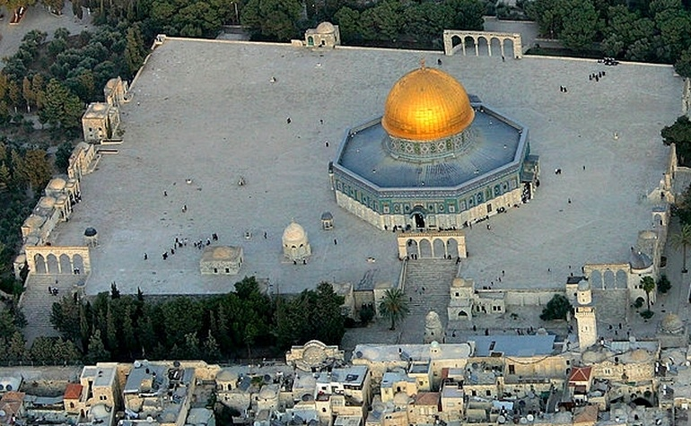 Aerial view of the Dome of the Rock