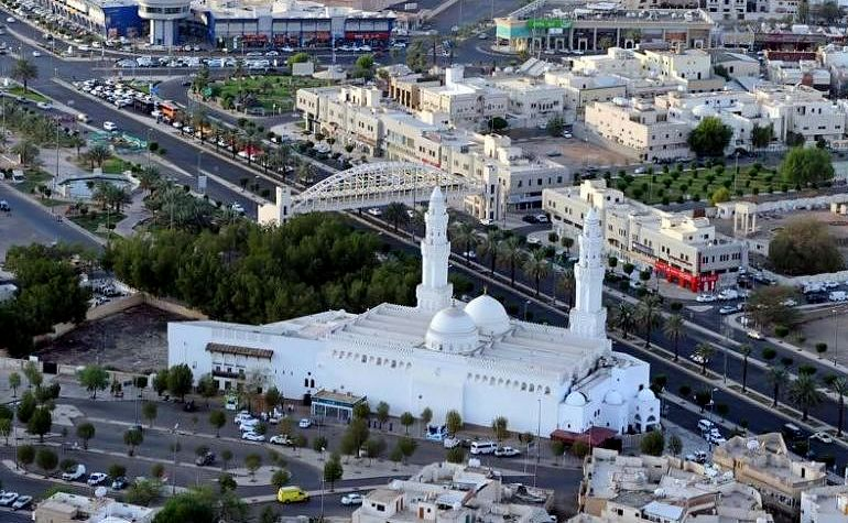 Aerial view of Masjid Qiblatain