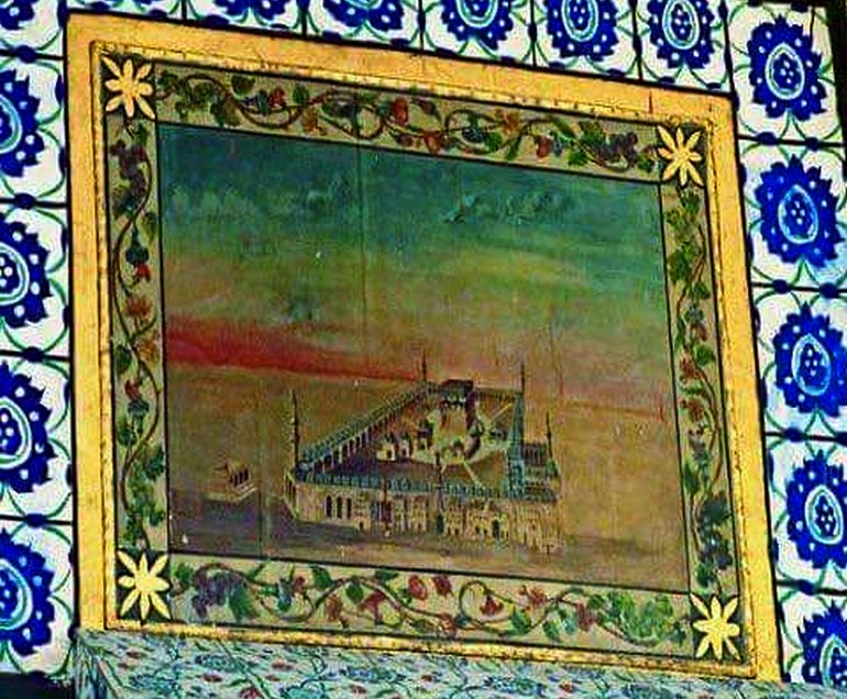 Painting in Masjid-e-Nabwi