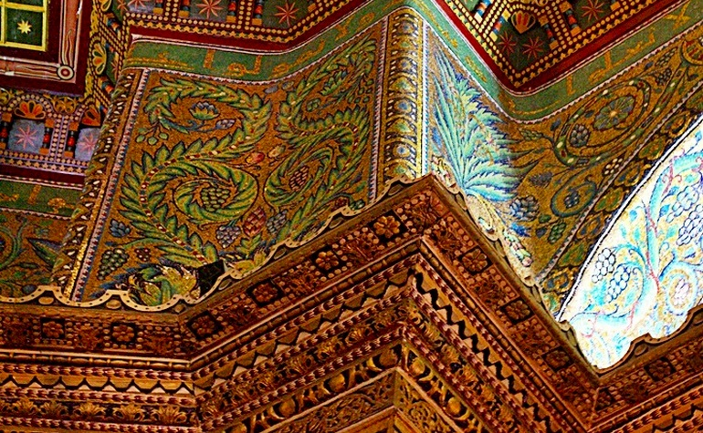 Decoration in the Dome of the Rock