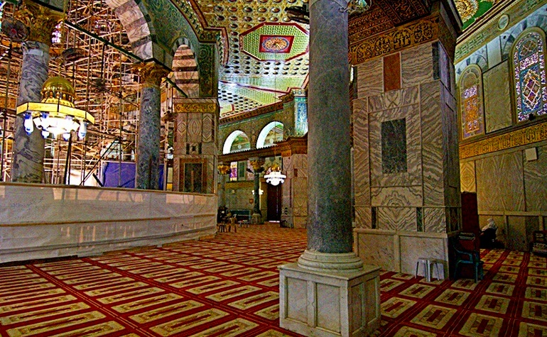 Interior of the Dome of the Rock