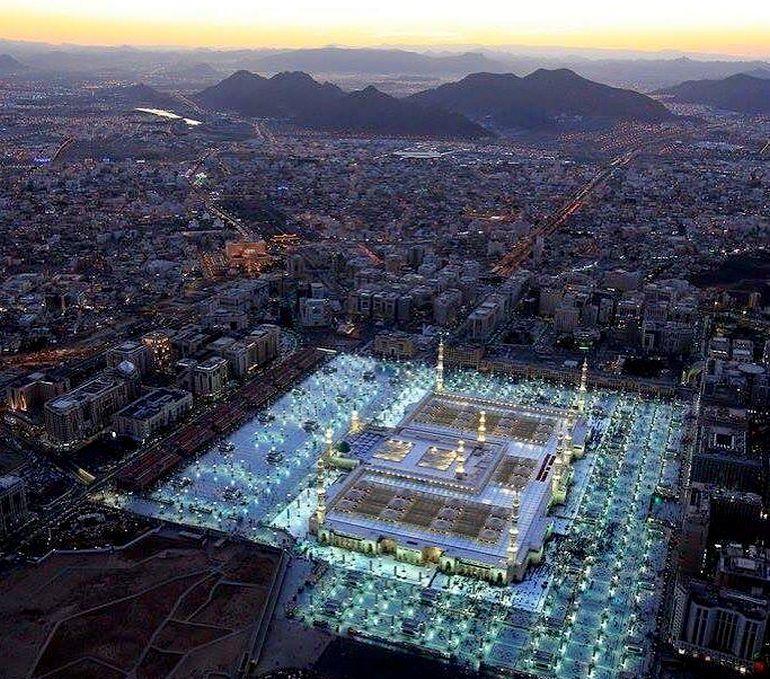 View of the City of Madinah at night