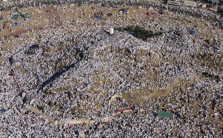 Overhead view of Mount Arafat