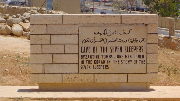 Sign for the Cave of the Ashabe-Kahf