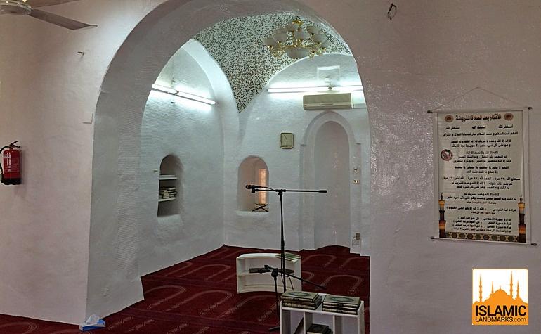 Interior of Masjid Rayah in Madinah