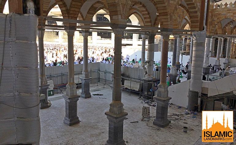 View towards the mataf