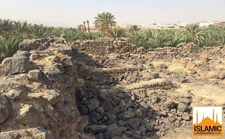 Rooms in the fort of Ka'b bin Ashraf