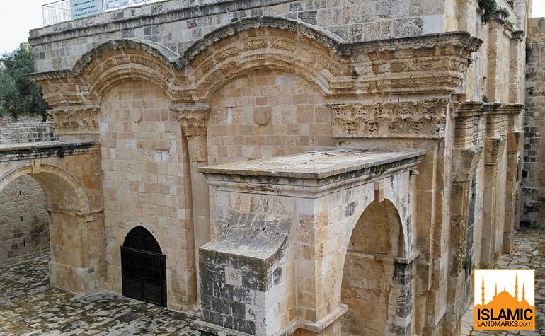Close-up of the residence of Imam Ghazali