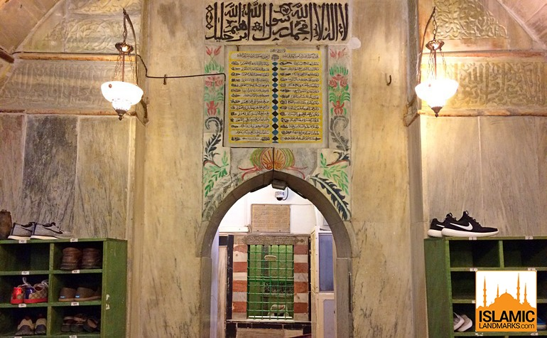 Detail over one of the doors in Masjid-e-Khalil