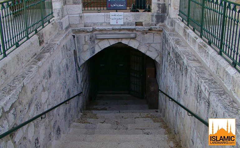 Entrance to go underneath Masjid al-Aqsa
