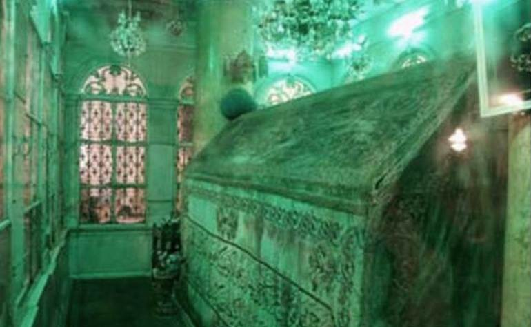 A view of the interior of the tomb