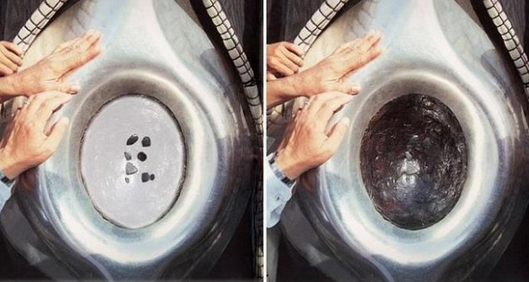 Detail of the Hajar al-Aswad showing the position of the 8 pieces – Photo: Galamedianews.com