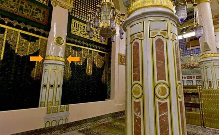 Ustawannah Sareer – Photo:Qurancomplex.gov.sa  (Pillars of the Masjid-e-Nabwi Hannanah, Ustuwaanah Jibraee, Wufood)