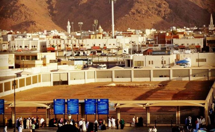 The burial place of the Martyrs of Uhud