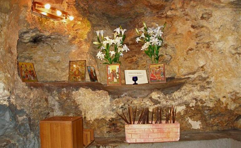 Crypt under the church where it is said Maryam (upon her be peace) was born – Photo: seetheholyland.net