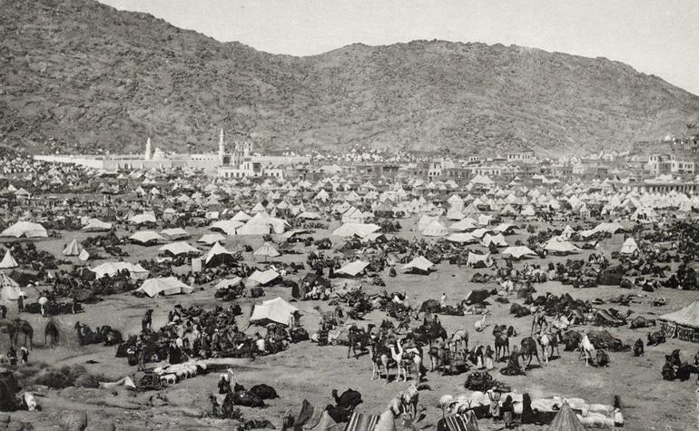 Historic Mina In Mecca Haj pilgrims