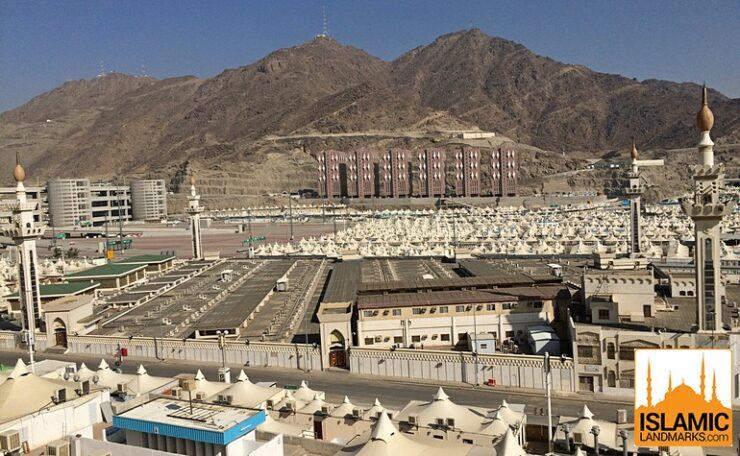 Overhead view of Masjid al-Khayf