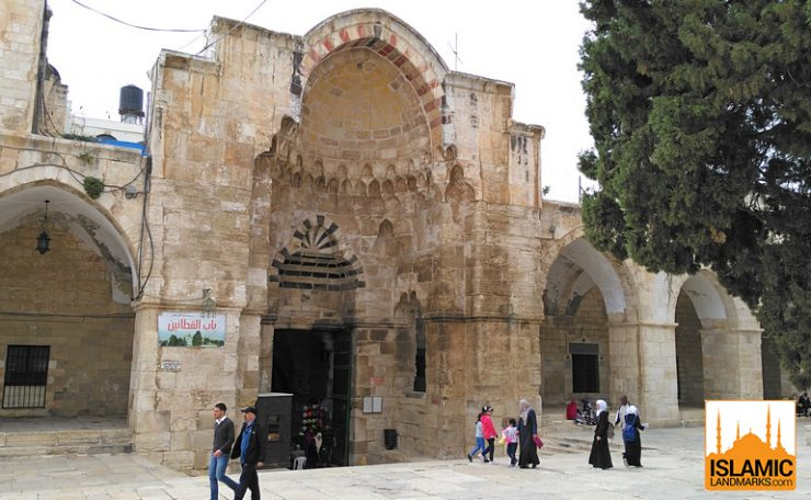 The Cotton Merchants Gate viewed from within Masjid al-Aqsa