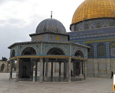 The Dome of the Chain next to the Dome of the Rock