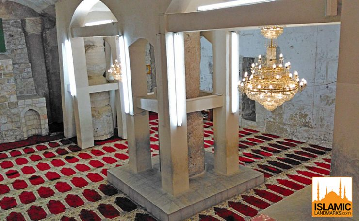 View underneath Masjid al-Aqsa