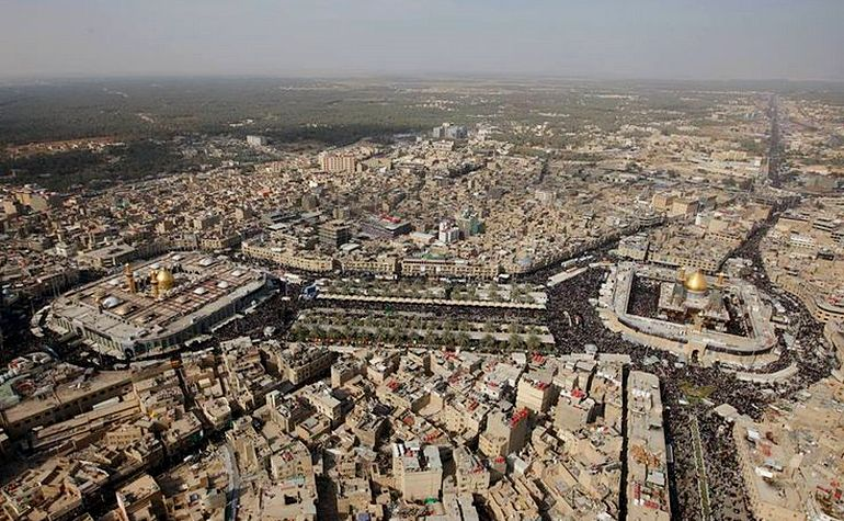 Aerial view of Karbala