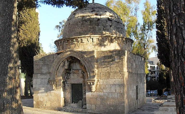 Domed tomb in Mamilla cemetery