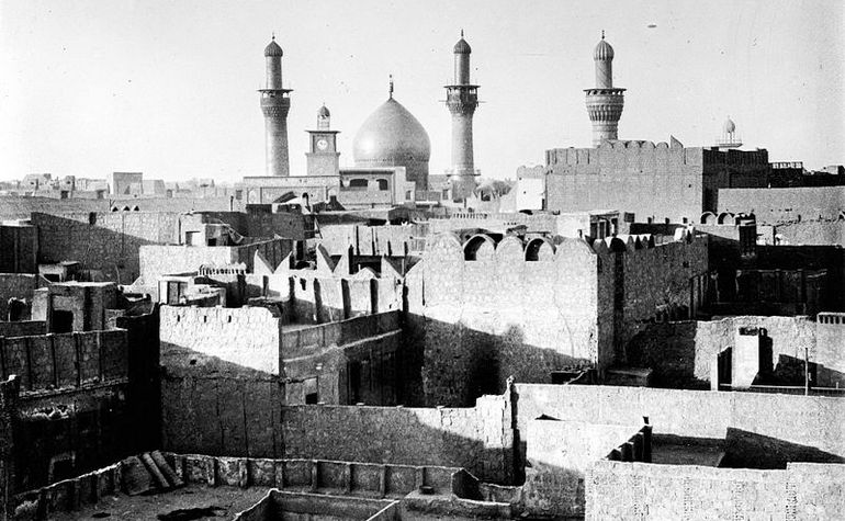 Hudaybiah: The mosque of Hussain (may Allah be pleased with him) in 1932 – Photo: Wikimedia Commons