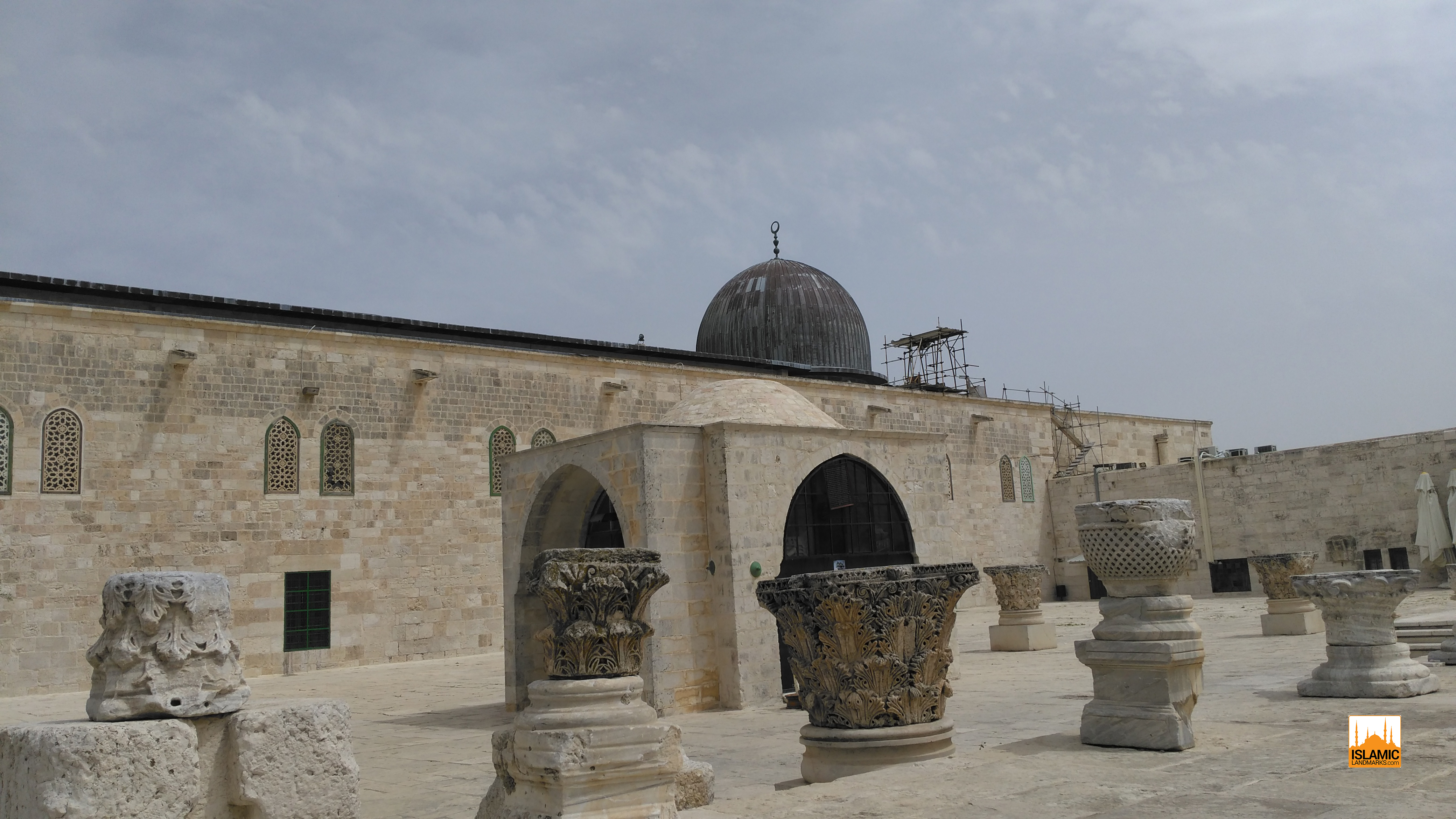 Dome of Yusuf Agha with Masjid al-Qibly in the background