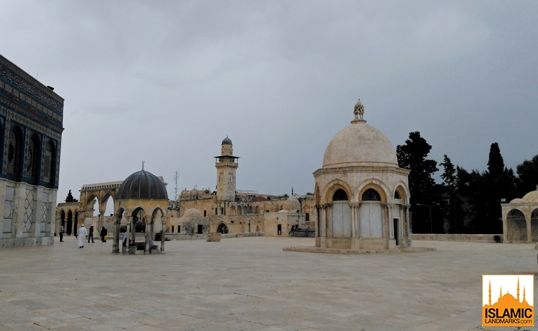 The Dome of the Ascension with the Dome of the Prophet on the left
