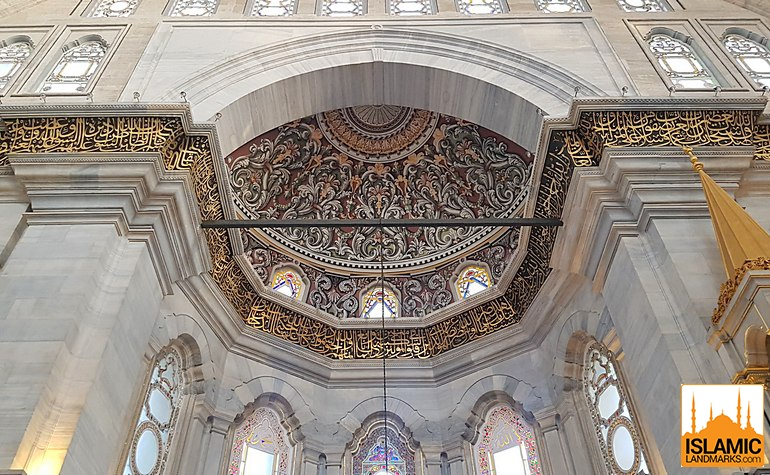 Architectural detail in the Nuruosmaniye mosque