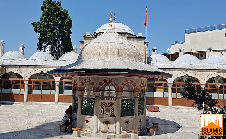 Ablution fountain in the Sokullu Pasa mosque