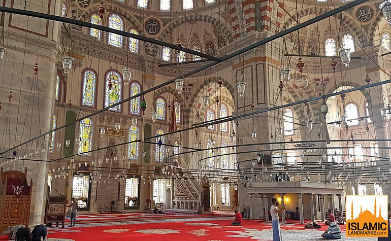 Interior view of the Fatih mosque