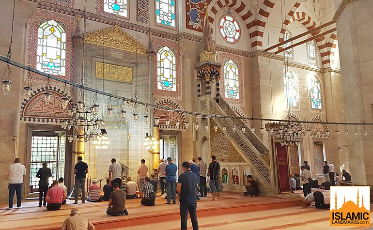 Mehrab and mimbar of the Sehzade mosque