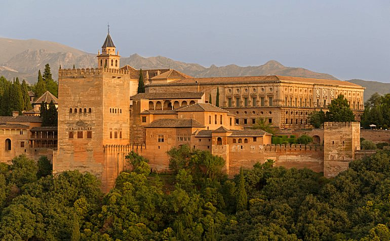 Outside view of the Alhambra