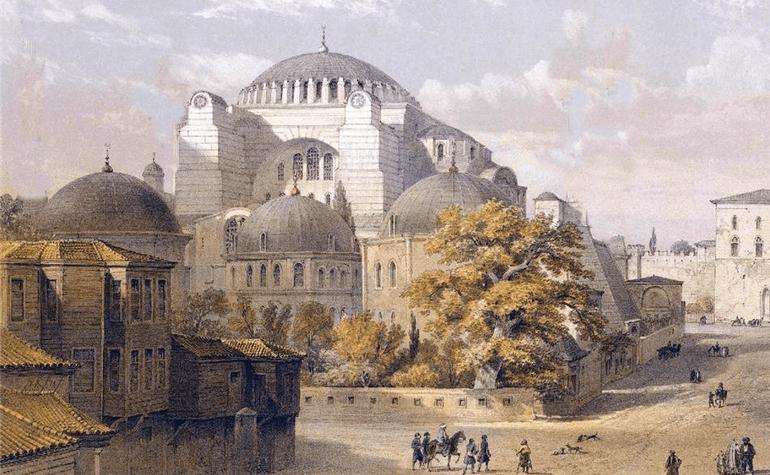 Hagia Sophia before the Ottoman conquest