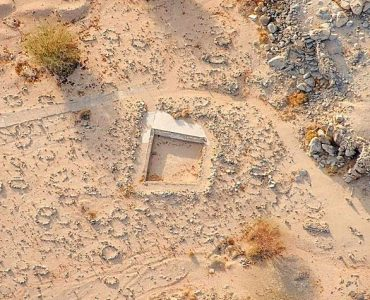 Aerial view of the burial place of the Shuhada of Badr
