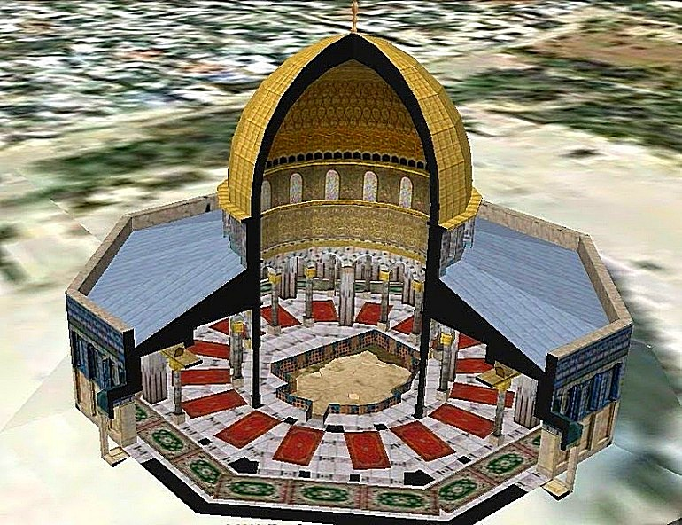 Cross section of the Dome of the Rock