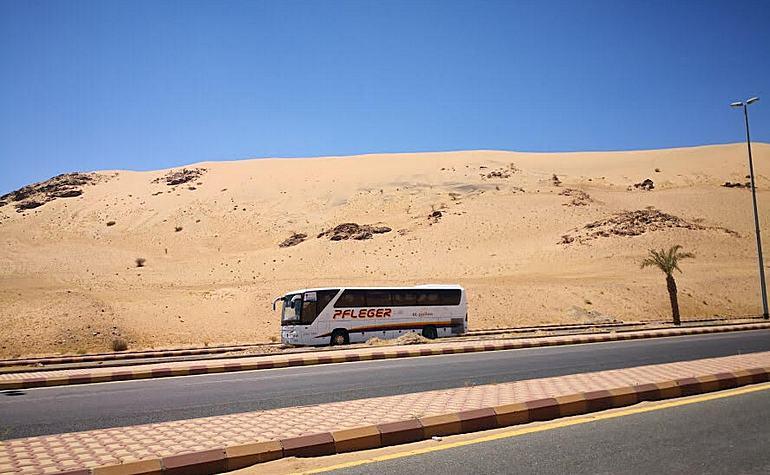 Front view of Jabal Malaikah