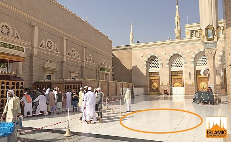 Location of the House of Uthman (رضي الله عنه)