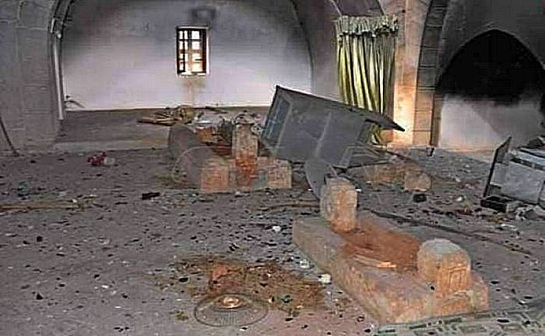 Damage to the burial area of Umar bin Abdul Aziz