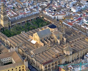 Aerial view of the Cordoba Mosque-Cathedral