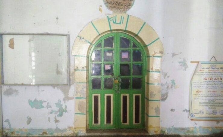 The door leading to the tomb of Prophet Lut (عليه السلام)