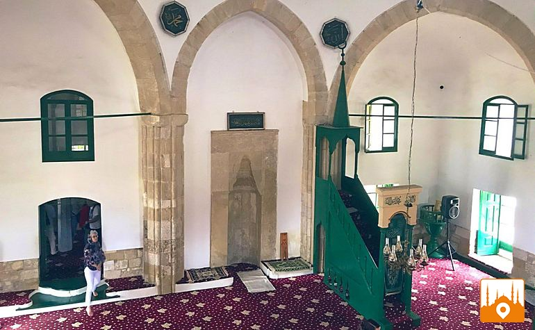 Interior of the mosque of Umme Haram (رضي الله عنها)