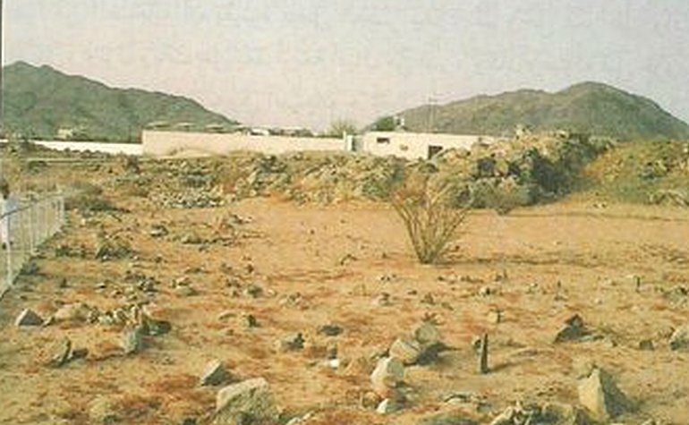 Historic photo of the site of the Battle of Badr
