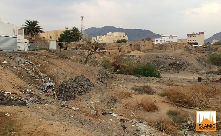 Present day location of where the mushrik of Badr were buried