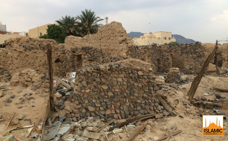 Ruins of houses near the same area of Badr