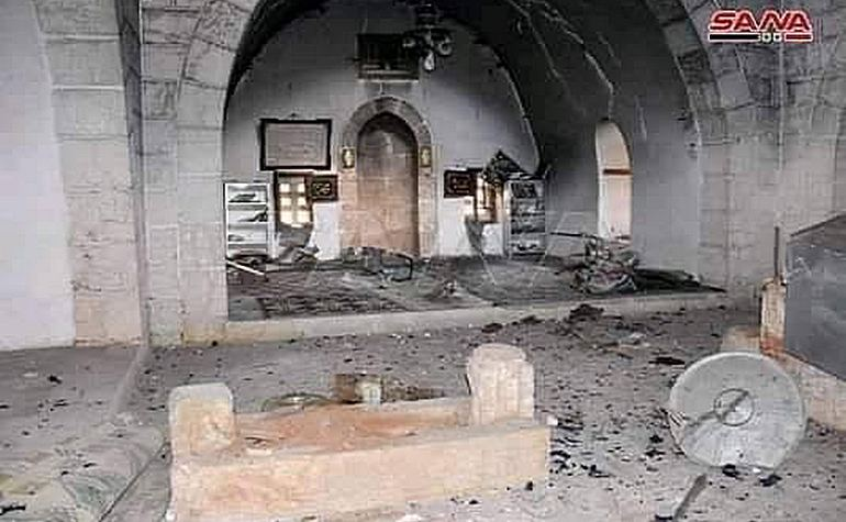 The graves after the destruction